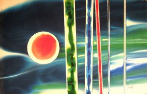 72WN 12  1972 pure watercolor pigment on paper  26 x 40 inches