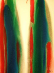 73WN 67  1973  pure watercolor pigment on paper  30 x 22 inches