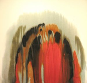 76WN 22  1976 pure watercolor pigment on paper 44 x 46 inches