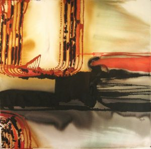 96WN 40 1996  pure watercolor pigment on paper 44 x 45 inches