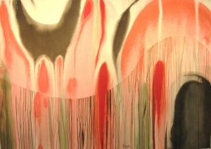 98WN 07  1998 pure watercolor pigment on paper  52 x 72 inches